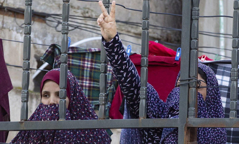 Bi errefuxiatu palestinar, Ammanen, Jordanian. ©ANDRE PAIN / EFE