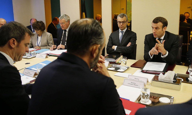 Koronabirusaren krisia aztertzeko atzoko Ministroen Kontseilu berezia. ©JEAN-CLAUDE COUTAUSSE / EFE