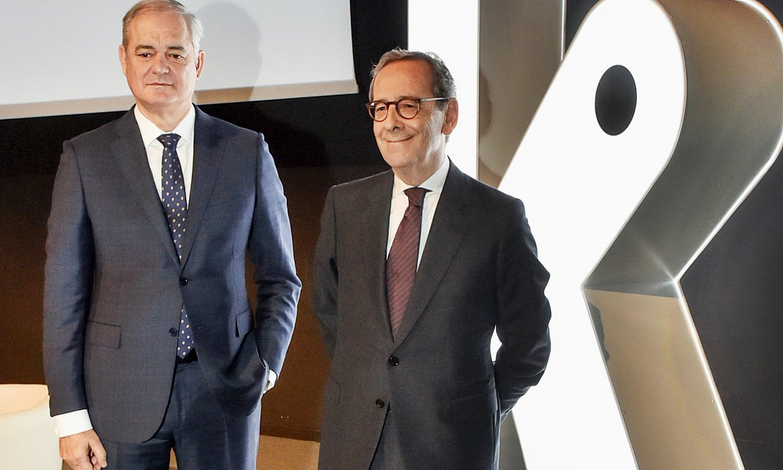 Javier Garcia Lurueña, Kutxabankeko kontseilari ordezkaria, eta Gregorio Billalabeitia presidentea. ©KUTXABANK