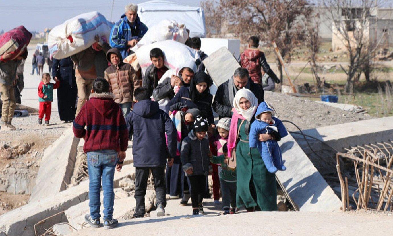 Idlibetik ihes egindakoetako askok kurduen kontrolpeko eremuetara jo dute babes bila. ©K24