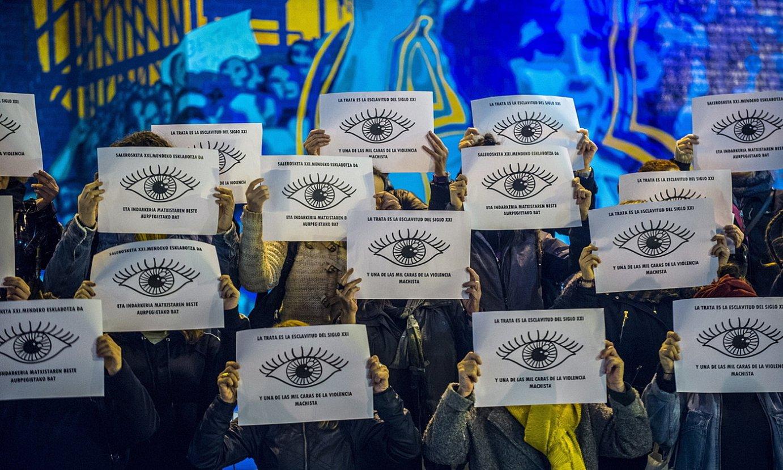 Emakumeen salerosketa eta sexu esplotazioaren kontrako protesta, iragan abenduan, Barakaldon. ©MARISOL RAMIREZ / FOKU