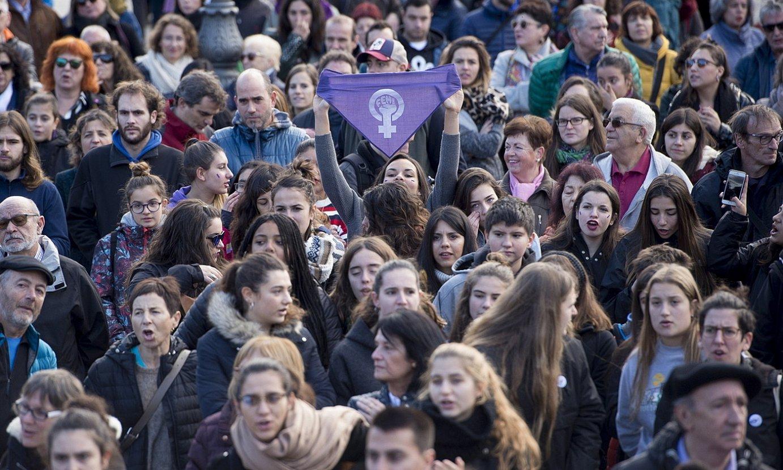 Indarkeria matxistaren aurkako mobilizazio bat, Iruñean. ©IÑIGO URIZ / FOKU