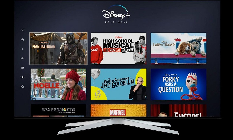Disney Plus plataforman 300 telesail, 500 film eta 25 saio original baino gehiago ikusi ahalko dira. ©EFE
