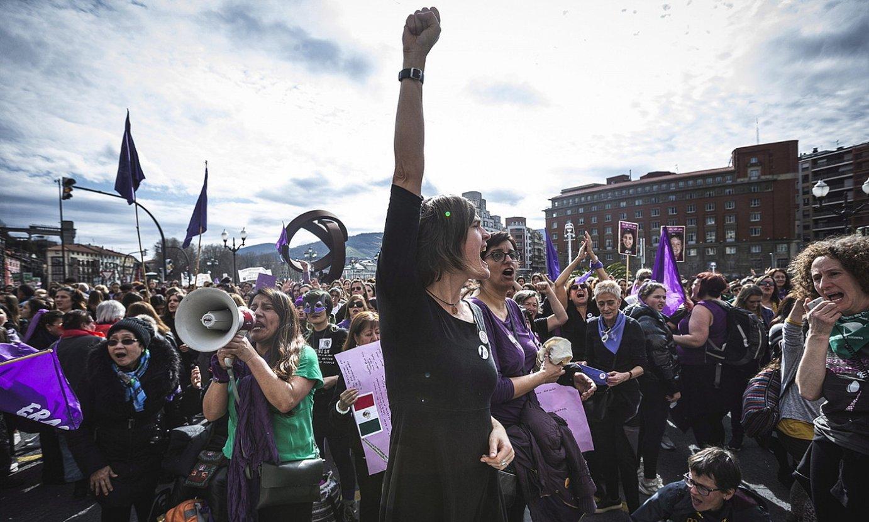 Emakumeen Nazioarteko Eguneko mobilizazioa, Bilbon. ©ARITZ LOIOLA / FOKU