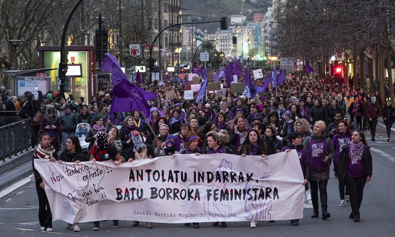 Emakumeen Nazioarteko Eguneko mobilizazioa, Donostian. ©JON URBE / FOKU