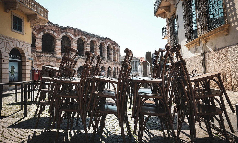 Kaleak hutsik, atzo, Veronan. ©FILIPPO VENEZIA / EFE