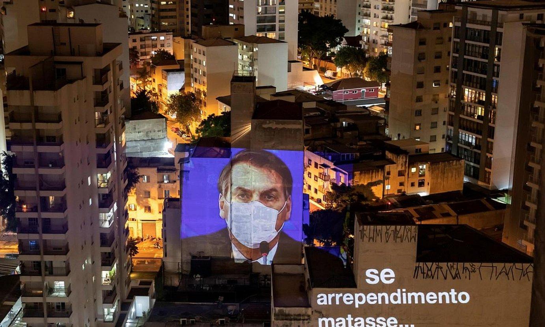 Jair Bolsonaro presidentearen aurkako protesta bat. / SEBASTIAO MOREIRA / EFE