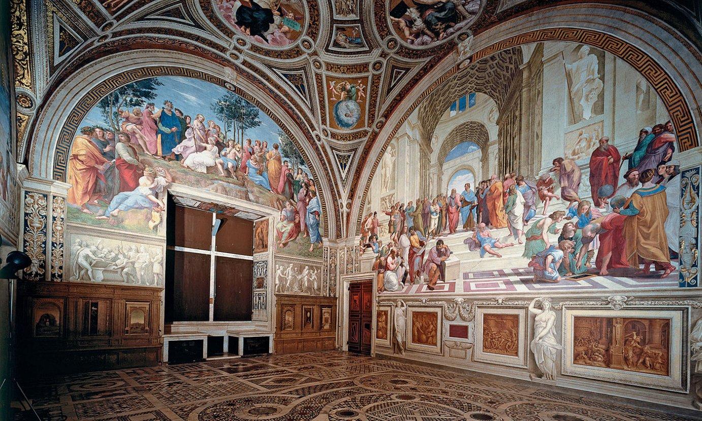 Vatikanoko Stanza della Segnatura gela. ©BERR IA