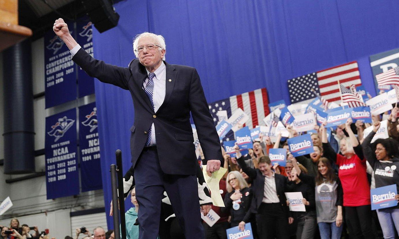 Bernie Sanders, New Hampshiren, kanpainako ekitaldi batean. ©JUSTIN LANE / EFE