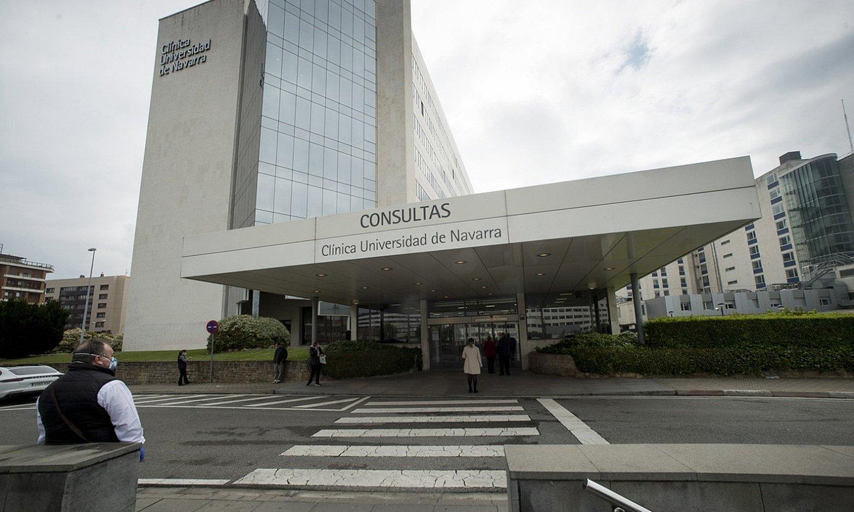<b>Iruñea.</b> Nafarroako Unibertsitatearen Klinika, herenegun. / IÑIGO URIZ / FOKU