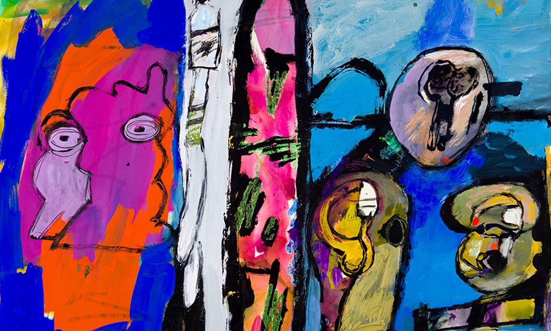 <b>Lan berriak. </b>Bilboko Lumbreras arte galerian erakutsitako obra bat, 2019koa. Han, Donostian eta Baionan izan ditu azken erakusketetako batzuk. ©BERRIA