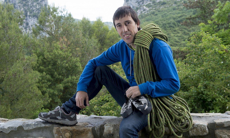 <b>Gorka Karapeto. </b>Argi du lehenago jasoko dutela mendian eskalatzeko baimena, rokodromoan baino. ©IÑIGO URIZ / ARGAZKI PRESS