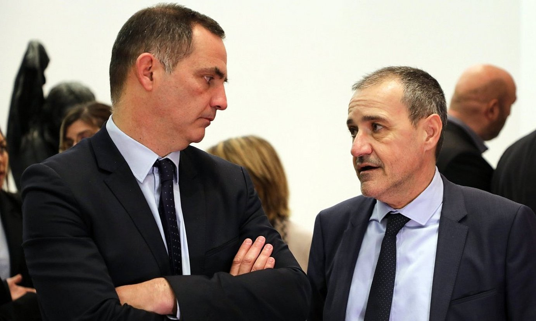Gilles Simeoni Korsikako presidentea eta Jean-Guy Talamoni Korsikako Asanbleakoa, artxiboko irudi batean. ©LUDOVIC MARIN / EFE