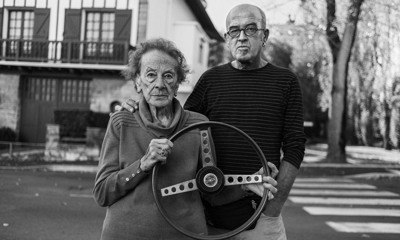 Celes Alvarez eta Eneko Etxeberria <em>Naparra-</em>ren senideak, <em>Bolante baten historia</em> dokumentalean. ©JOSEBA ZABALZA
