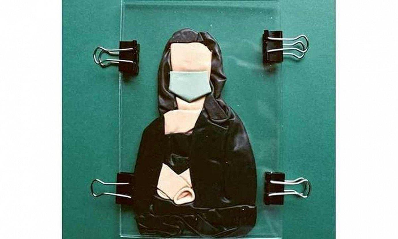 Gilles Tytgat sortzailearen artelana The Covid Art Museum Instagrameko kontuan dago ikusgai. ©GILLES TYTGAT
