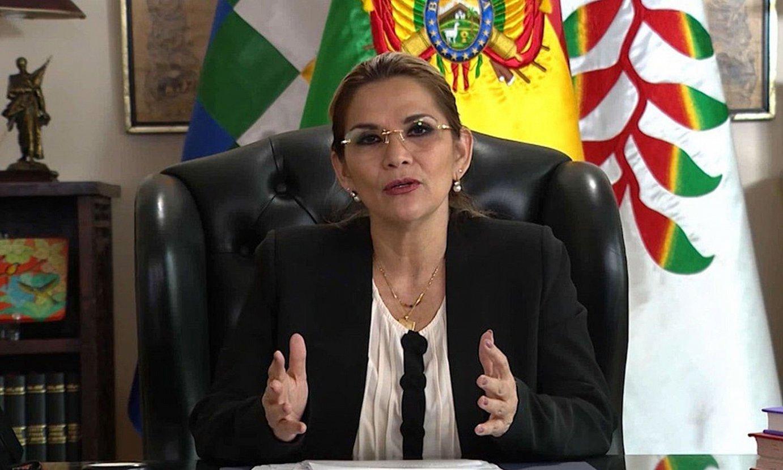 Jeanine Añez, Boliviako jarduneko presidentea, artxiboko argazki batean. ©EFE