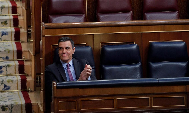 Pedro Sanchez apirilaren 29an, Espainiako Kongresuan. / EMILIO NARANJO / EFE