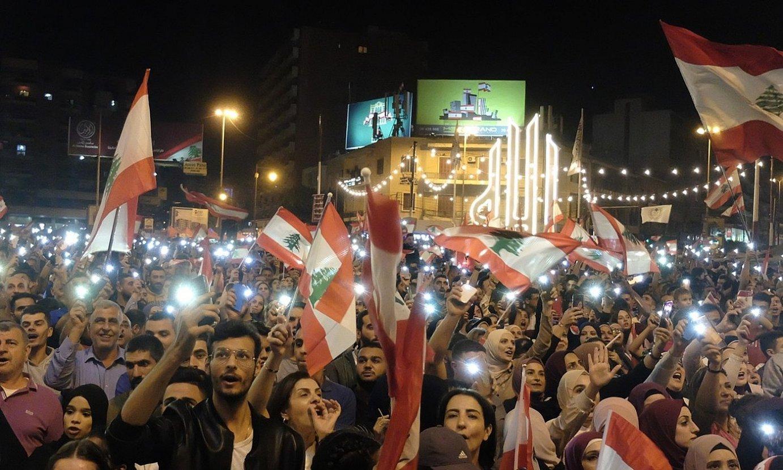 Libanon indarrean den sistema konfesionalaren aurkako protesta bat, Beiruten. ©J. C. V