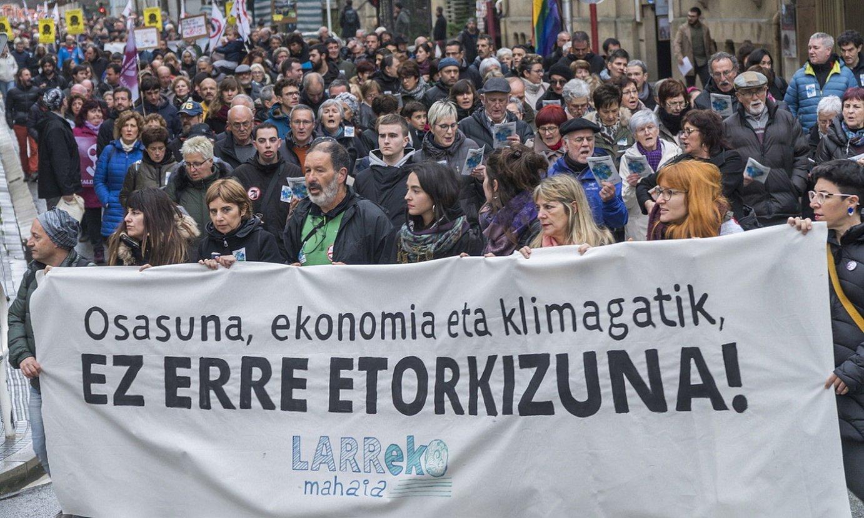 Erraustegiaren kontra egindako azken mobilizazioa, Donostian, otsailaren 29an. ©ANDONI CANELLADA / FOKU