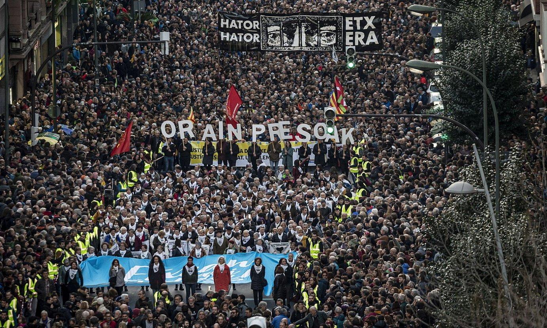 <em>Orain presoak</em> manifestazioa, iazko urtarrilean, Bilbon. ©ARITZ LOIOLA / FOKU