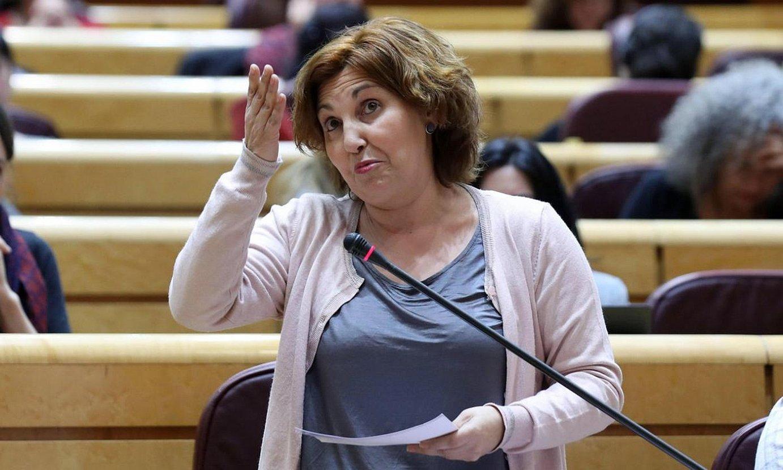Pilar Garrido, Espainiako Senatuan, iazko otsailean. ©KIKO HUESCA / EFE