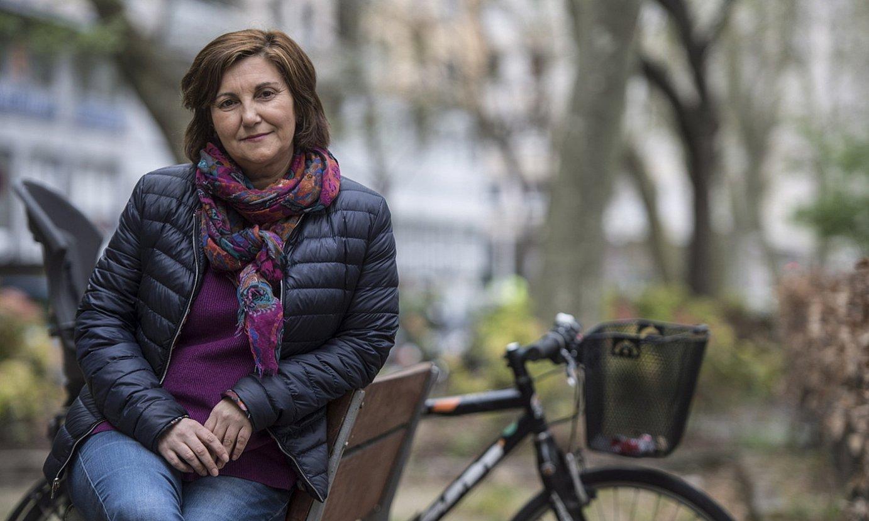 Pilar Garrido EAEko Ahal Dugu-ko idazkari nagusia izateko hautagaia, iazko apirilean, Donostian. ©JAGOBA MANTEROLA / FOKU