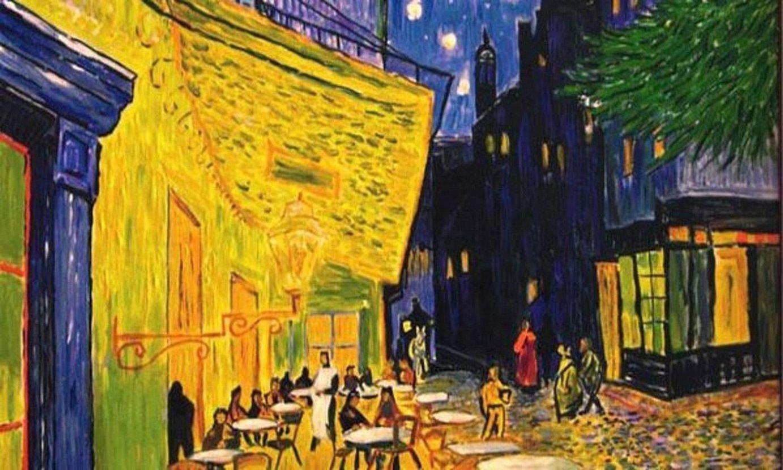 Vincent van Gogh artistaren 1888ko <em>Kafe terraza bat gauez</em> margolana. ©BERRIA