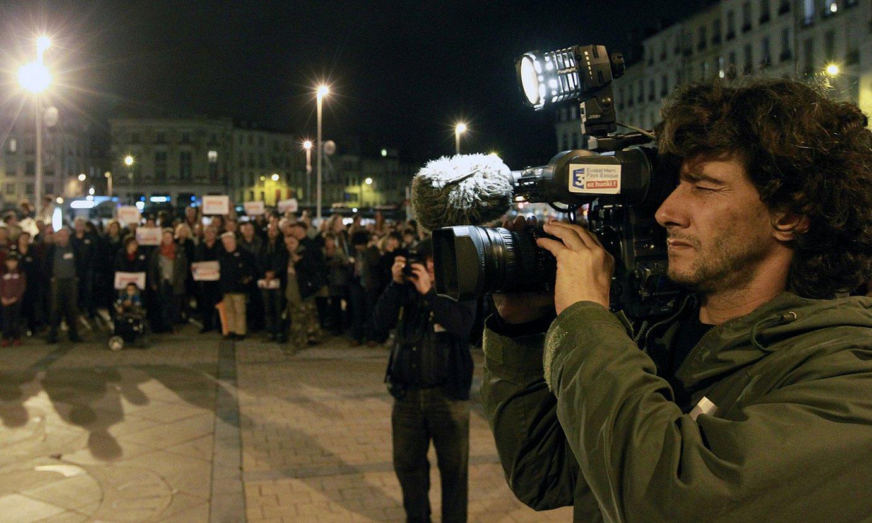 <em>France3 Euskal Herri</em> saioaren aldeko elkarretaratze bat, 2012an. ©BOB EDME