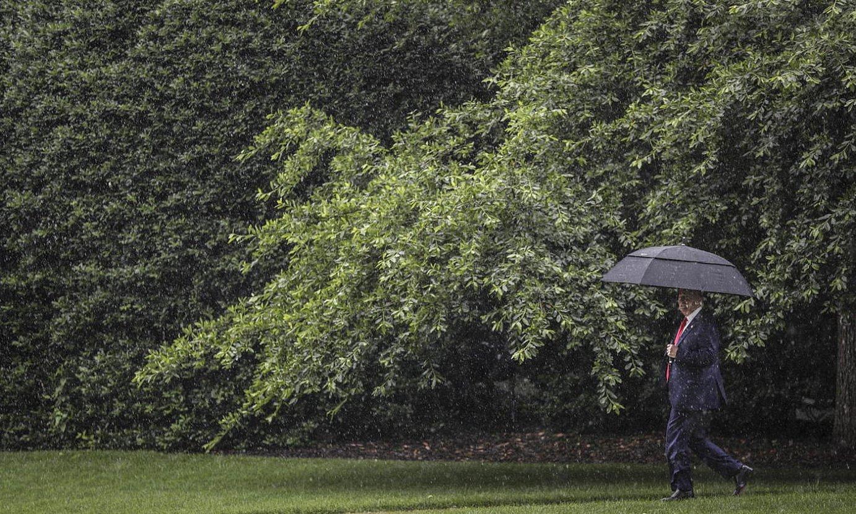 Donald Trump AEBetako presidentea, iragan astean, Etxe Zurian. ©OLIVER CONTRERAS / EFE