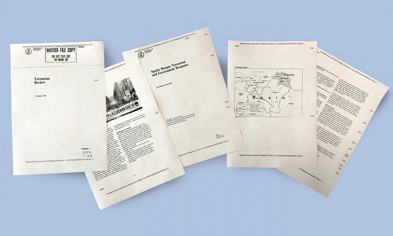 Felipe Gonzalezen �terrorismoaren aurkako politika� aztertzen zuten CIAren 1984ko bi agiriren pasarteak. BERRIAren webgunean osorik daude dokumentuak. / BERRIA