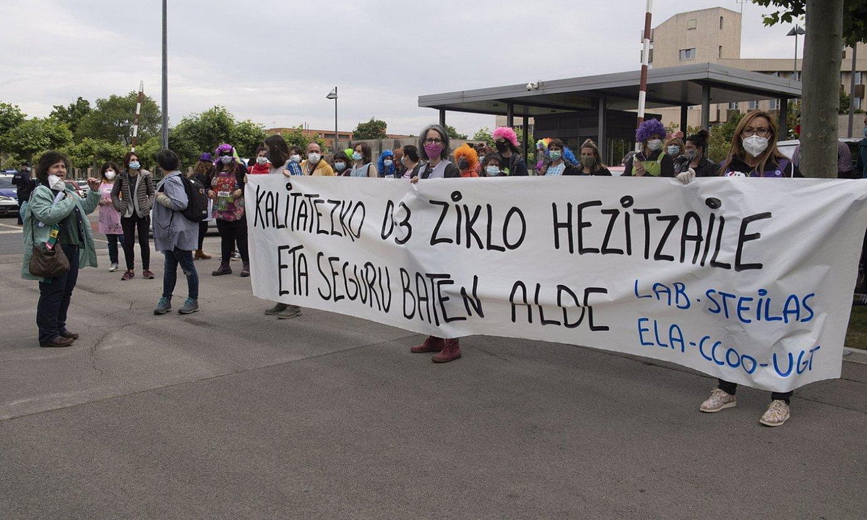 0-3 zikloaren alde egindako mobilizazioa, artxiboko irudi batean. ©R.G. / FOKU
