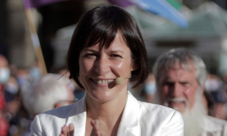 Ana Ponton Bloke Nazionalista Galiziarraren presidentegaia, atzo, Coruñako Maria Pita plazan. ©CABALAR / EFE