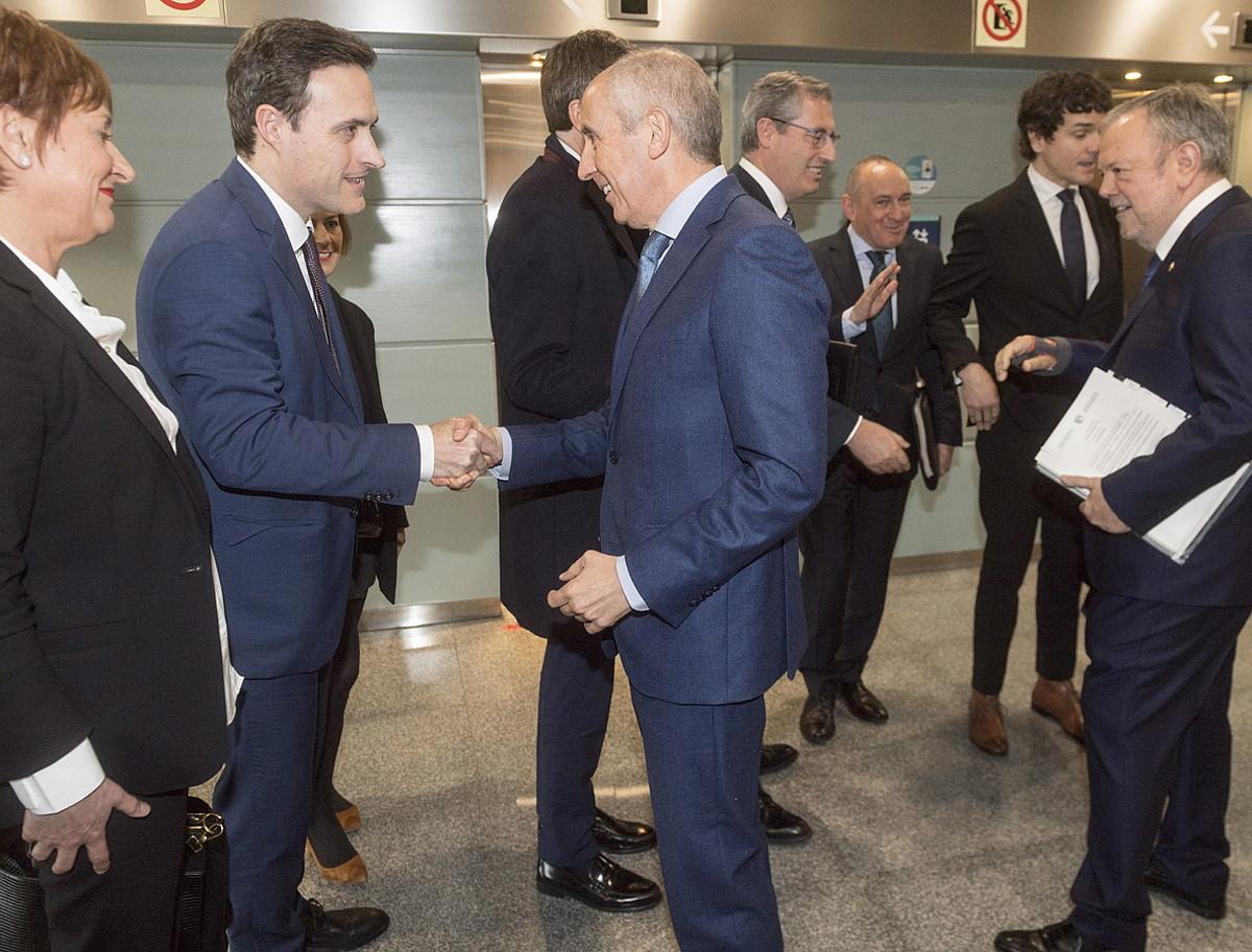 Finantzen Euskal Kontseiluaren bilera, joan den otsailean. / JUANAN RUIZ / FOKU