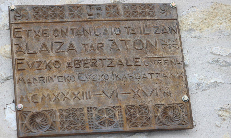 Gonzalez de Alaizaren 1933ko omenezkoa 'Euzkadi' egunkarian