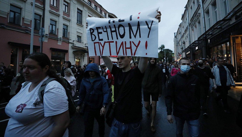 Protesta bolada Errusian