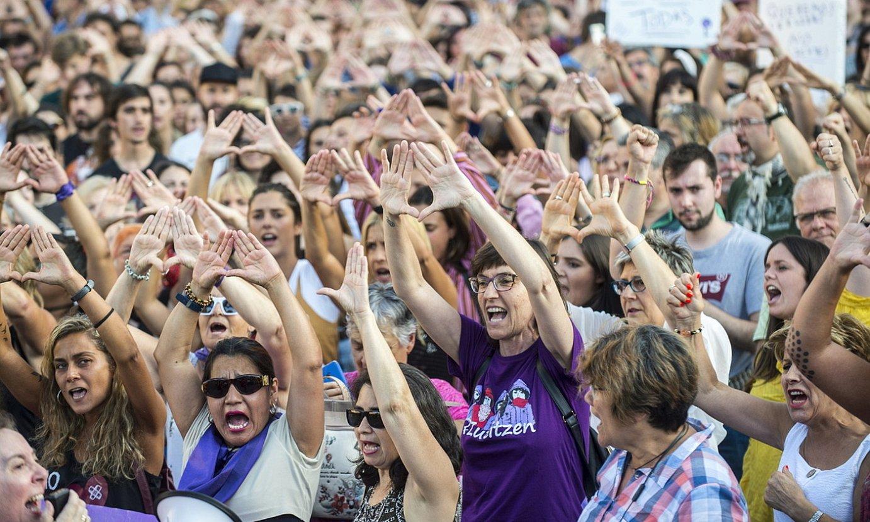 Salaketaren berri izan osteko protesta, Bilbon. ©MARISOL RAMIREZ / FOKU