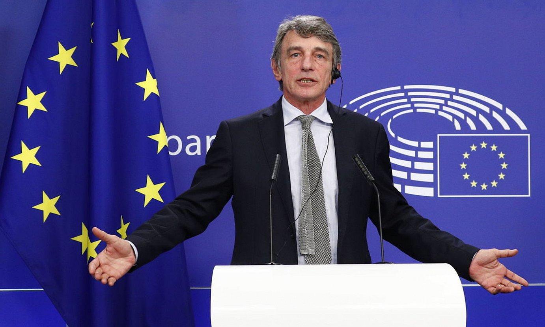 David Sassoli Europako Parlamentuko presidentea, atzo. ©FRANCOIS LENOIR/ EFE