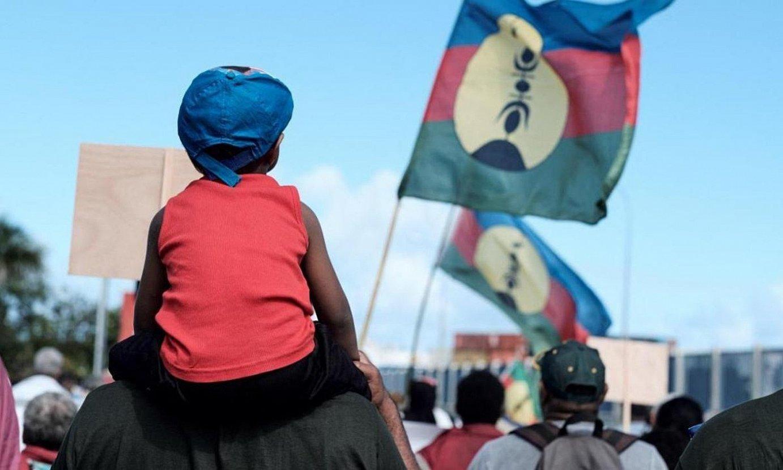 Kaledonia Berriko independentistek iragan urteko bozen kanpainan egin zuten ekitaldi bateko irudia. ©BERRIA