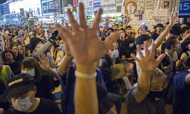 Azken asteetan, protestak ugaritu egin dira Hong Kongeko kaleetan, gazteek antolatutakoak, bereziki. ©ZIGOR ALDAMA