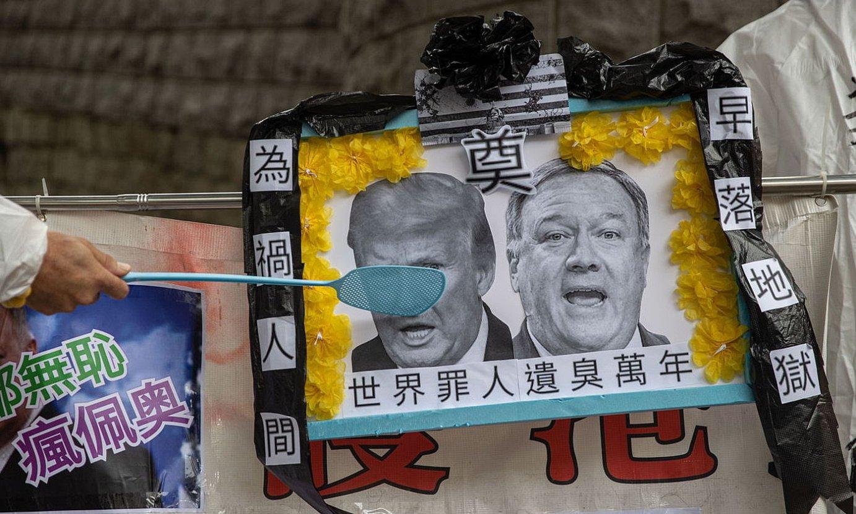 AEBen aurkako protesta bat, Hong Kongen. ©JEROME FAVRE / EFE