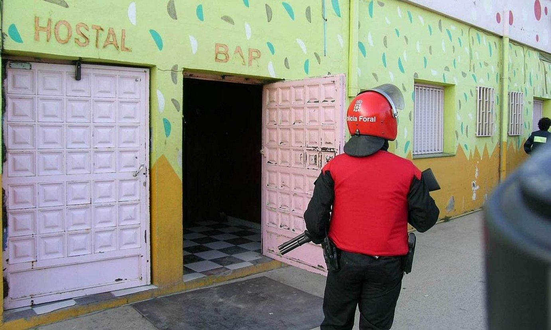Prostituzio sare baten aurkako operazio bat Erriberan, 2004an. ©BERRIA