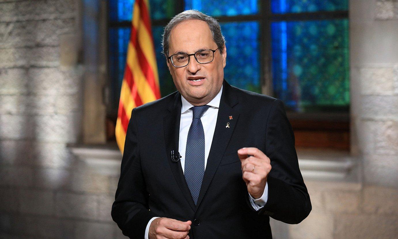 Quim Torra, Generalitateko presidentea. ©JORDI BEDMAR