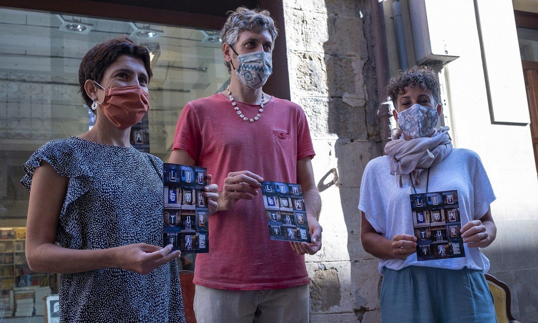 Itziar Iruretagoiena, Yoseba Peña eta Irune Urbieta, atzo, Literaturiaren aurkezpenean. ©JON URBE / FOKU