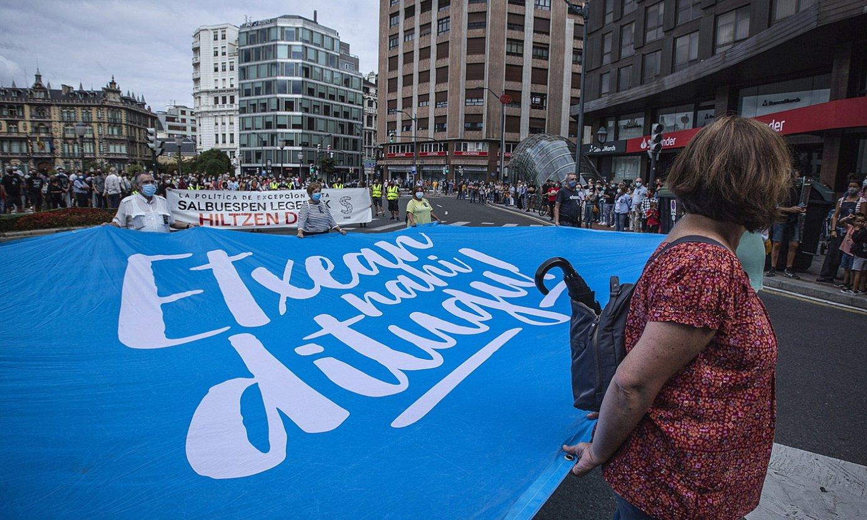 Manifestazioa Bilbon, Igor Gonzalez Solaren heriotzaren harira. ©ARITZ LOIOLA//FOKU
