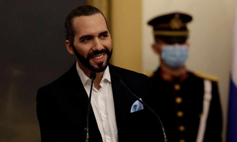 Nayib Bukele El Salvadorko presidentea herenegun eginiko diskurtso batean. ©RODRIGO SURA / EFE
