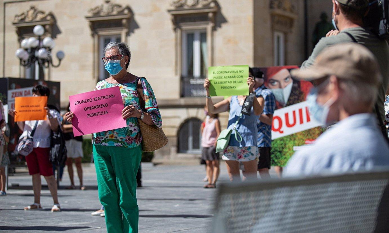 Protesta bat Gasteizen. ©E.PORTILLO/ FOKU