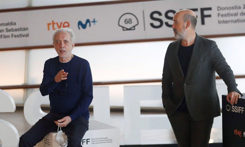 Fernando Truebaren eta Javier Camara, atzo, Donostian. ©JUAN HERRERO / EFE
