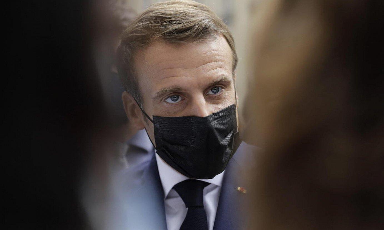 Emmanuel Macron, Frantziako presidentea. ©LEWIS JOLY / POOL / EFE