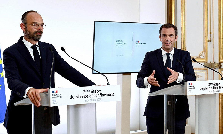 Philippe Frantziako lehen ministro ohia, eta Veran Osasunekoa, maiatzean. ©EFE