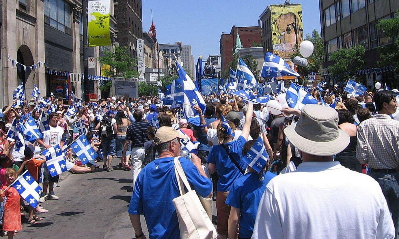 Quebeceko jai nazionalaren ospakizuna ekainaren 24an egiten dute urtero. Irudian, Montreal hirian. ©BERRIA